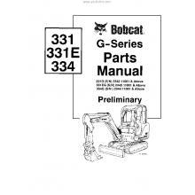 Bobcat 325 Mini Excavator Parts Manual